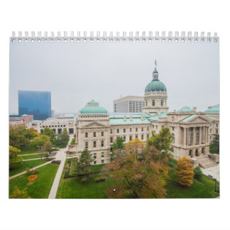 Indianapolis Indiana Skyline Calendar