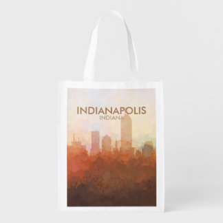 Indianapolis, Indiana Skyline IN CLOUDS Grocery Bag