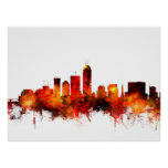 Indianapolis Indiana Skyline Posters