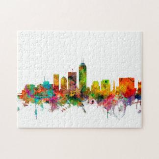 Indianapolis Indiana Skyline Puzzles