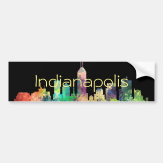 INDIANAPOLIS, INDIANA SKYLINE SP - BUMPER STICKER