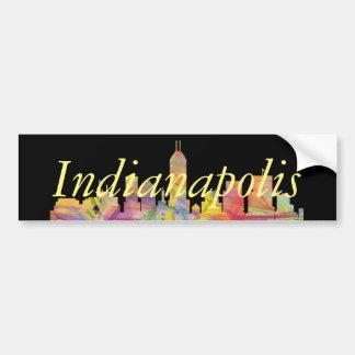 INDIANAPOLIS, INDIANA SKYLINE WB1 - BUMPER STICKER