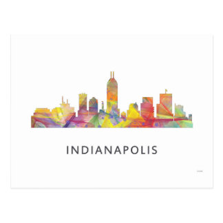 INDIANAPOLIS, INDIANA SKYLINE WB1 - POSTCARD