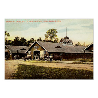 Indianapolis, Indiana State Fair Stables 1915 Poster