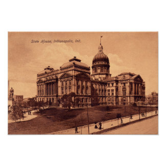 Indianapolis, Indiana Statehouse State House Poster