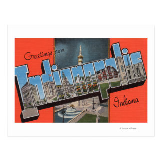 Indianapolis, Indiana (Town Plaza) Postcard