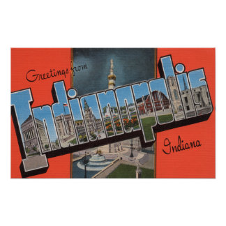 Indianapolis, Indiana (Town Plaza) Posters