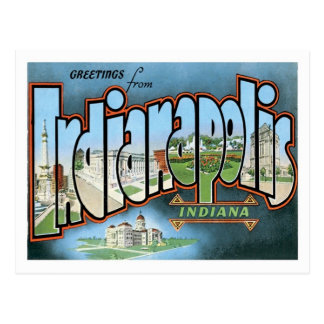 Indianapolis Indiana Travel America US City Postcard