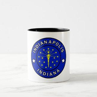 Indianapolis Indiana Two-Tone Coffee Mug
