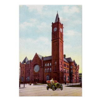 Indianapolis Indiana Union Station 1915 Print