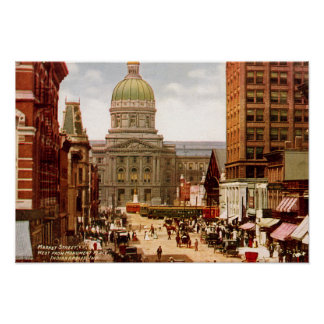 Indianapolis Indiana West Market Street Print