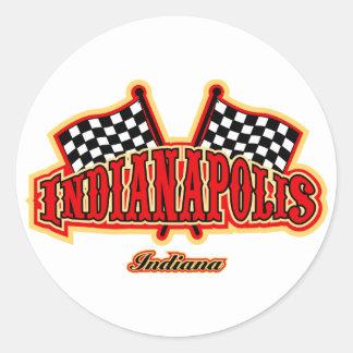 Indianapolis señaló por medio de una bandera pegatina redonda