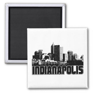 Indianapolis Skyline 2 Inch Square Magnet