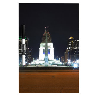 Indianapolis Skyline at Night Dry-Erase Board