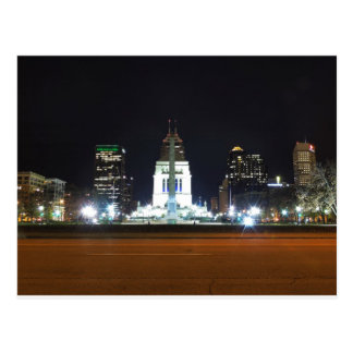 Indianapolis Skyline at Night Postcard