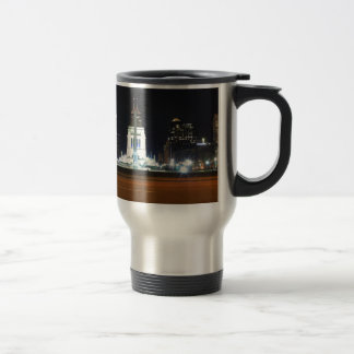 Indianapolis Skyline at Night Travel Mug