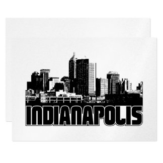 Indianapolis Skyline Card