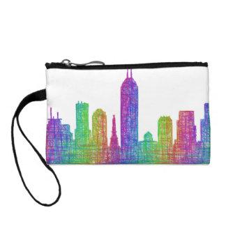Indianapolis skyline change purse