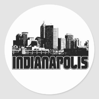 Indianapolis Skyline Classic Round Sticker