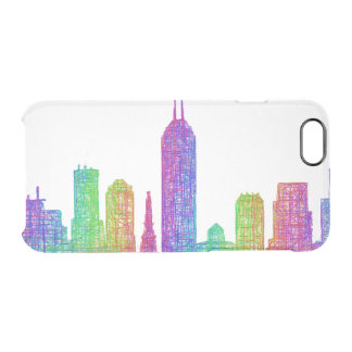 Indianapolis skyline clear iPhone 6/6S case