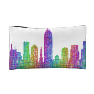 Indianapolis skyline cosmetic bag
