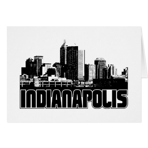Indianapolis Skyline Greeting Card