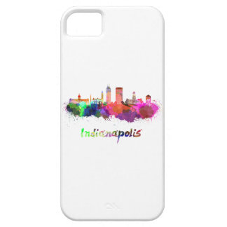 Indianapolis skyline in watercolor iPhone SE/5/5s case