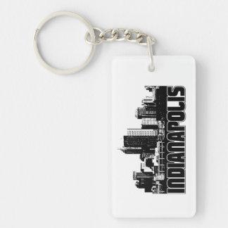 Indianapolis Skyline Keychain