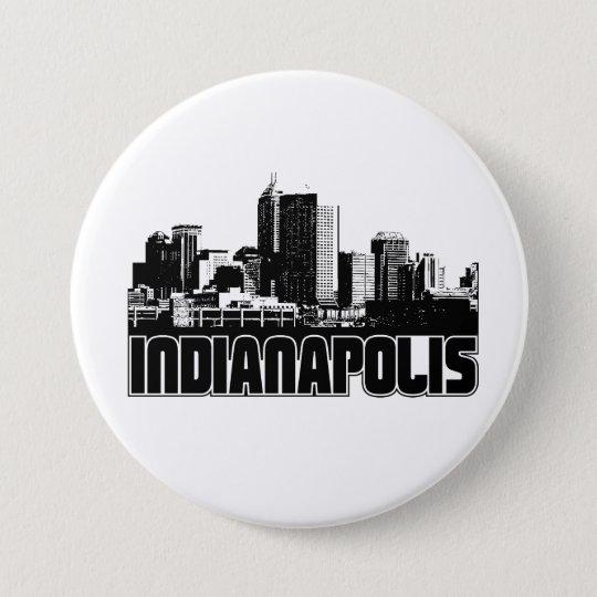 Indianapolis Skyline Pinback Button