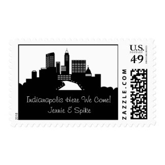 Indianapolis Skyline Postage Stamp