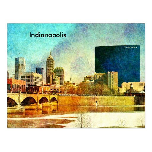 Indianapolis skyline postcard zazzle for Indianapolis painting company