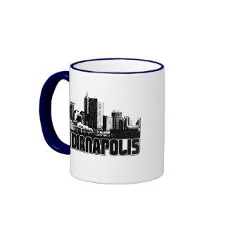 Indianapolis Skyline Ringer Mug
