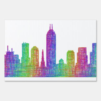 Indianapolis skyline sign