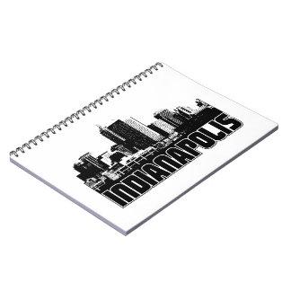 Indianapolis Skyline Spiral Notebook