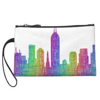 Indianapolis skyline wristlet wallet