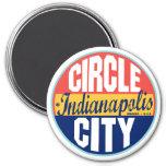 Indianapolis Vintage Label Fridge Magnets