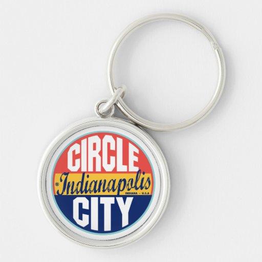 Indianapolis Vintage Label Keychain