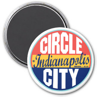 Indianapolis Vintage Label Magnet