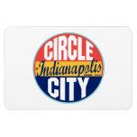 Indianapolis Vintage Label Magnet