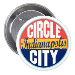 Indianapolis Vintage Label Pinback Button