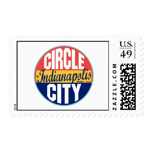 Indianapolis Vintage Label Stamps
