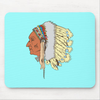 Indianer Häuptling Native American chief Mousepad