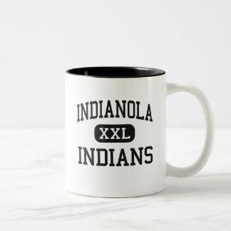 Indianola - indios - alto - Indianola Mississippi Taza De Dos Tonos