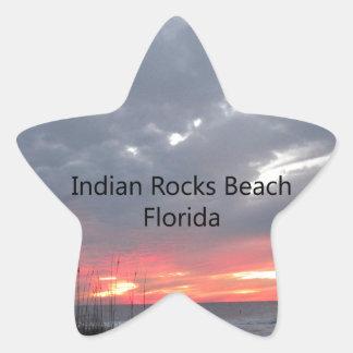 INDIANROCKSBEACHwords Star Sticker