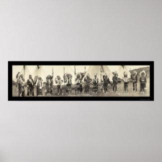 Indians Astoria OR Photo 1911 Print