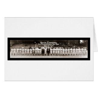 Indians Baseball Photo 1921 Greeting Card