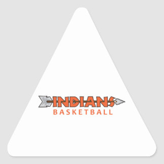 INDIANS BASKETBALL TRIANGLE STICKER