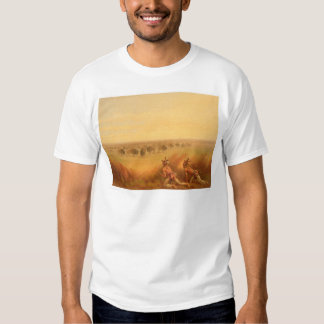 Indians Creeping up on a Herd of Buffalo (1907A) Tee Shirt