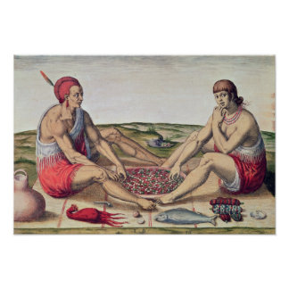 Indians eating a meal poster