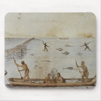 Indians Fishing Mouse Pad